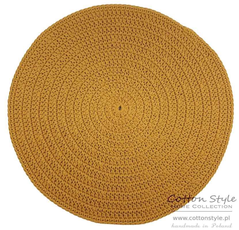 musztardowy dywan ze sznurka